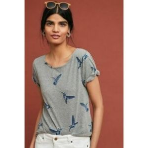 Anthropologie Tops - T.La Hummingbird Twist Back Short Sleeve Tee